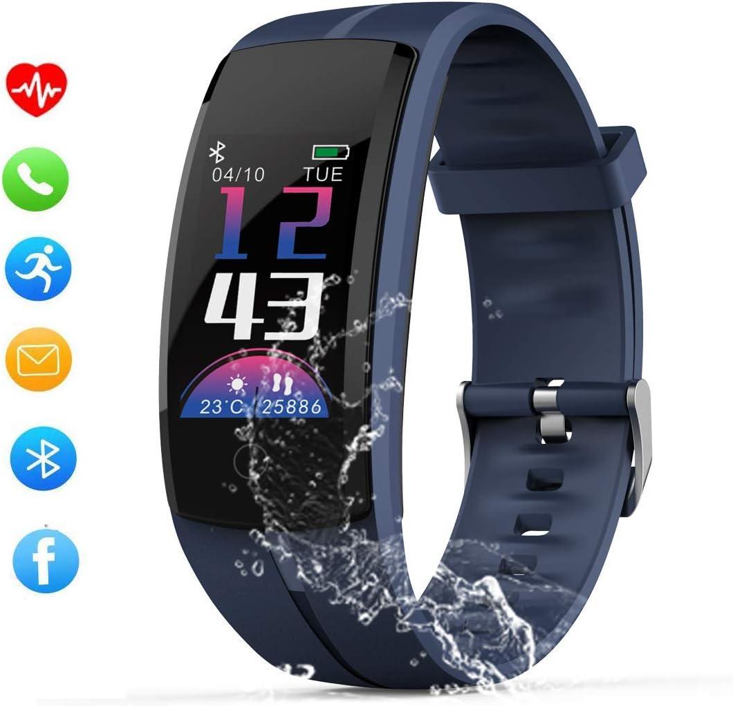 Zeerkeer Pulsera  Actividad  Reloj Inteligente con podómetro / Monitor de Ritmo Cardíaco/ Monitor de la presión arterial / Monitor Sueño / modo deportivo múltiple , impermeable IP67