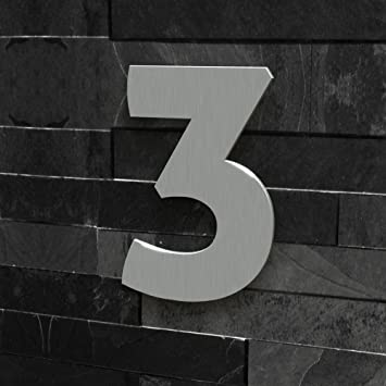 Hausnummer Modern hausnummer nr 3 schriftart modern höhe 20 30 cm viele