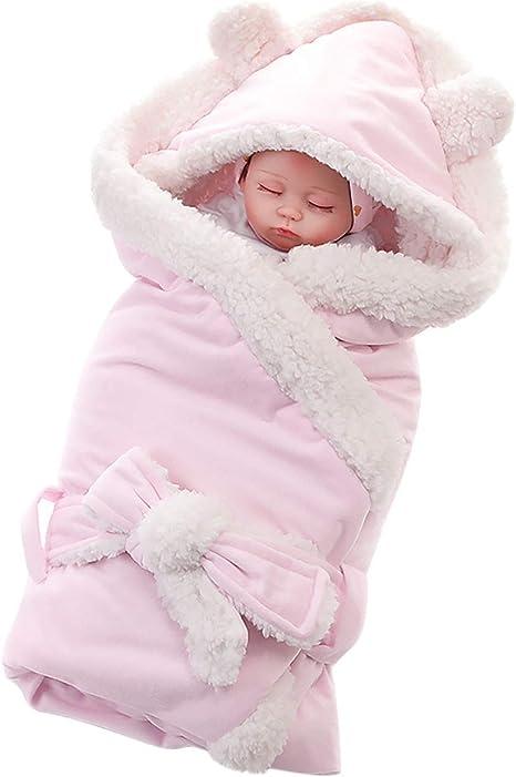 Manta suave para bebé con capucha, saco de dormir térmico de ...
