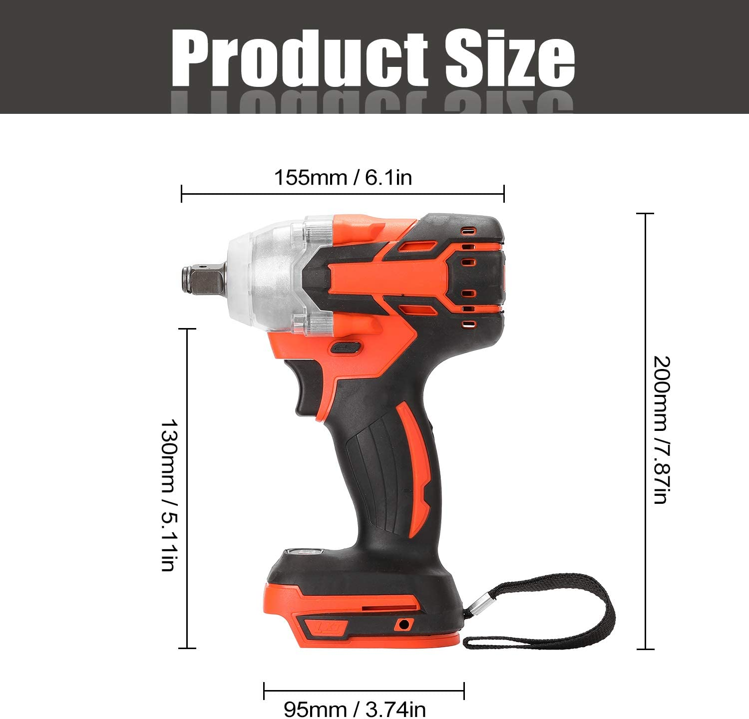 Extaum Electric Wrench,Electric Rechargeable Cordless Brushless Impact Wrench Multifunctional Wireless Electric Hand Wrench Home DIY Electric Power Tools