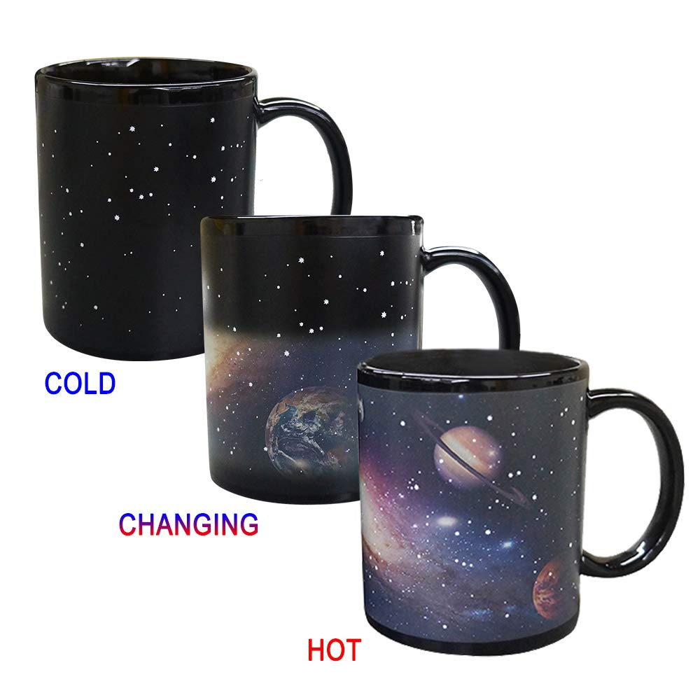 Porcelain Color Changing Coffee Magic Mug Heat Sensitive Cup 11 OZ Pack of 1 Tarpul