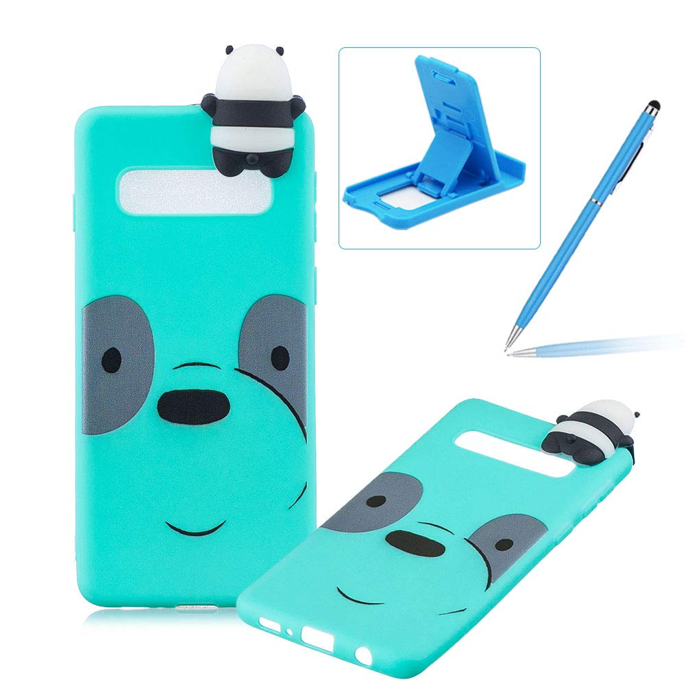 TPU Case for Samsung Galaxy S10E,Rubber Case for Samsung Galaxy S10E,Herzzer Stylish Big Eyes Bear Print Ultra Slim Soft Silicone Gel Bumper Shockproof Flexible Case