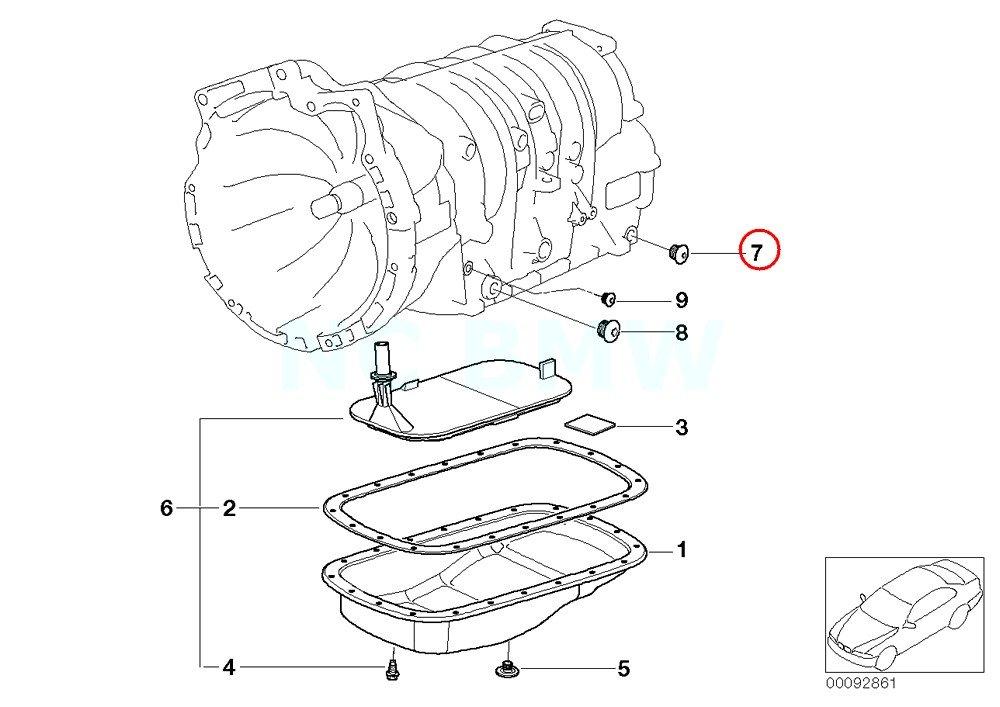 Amazon Com Bmw Genuine Outer Hexagon Screw Plug Automotive