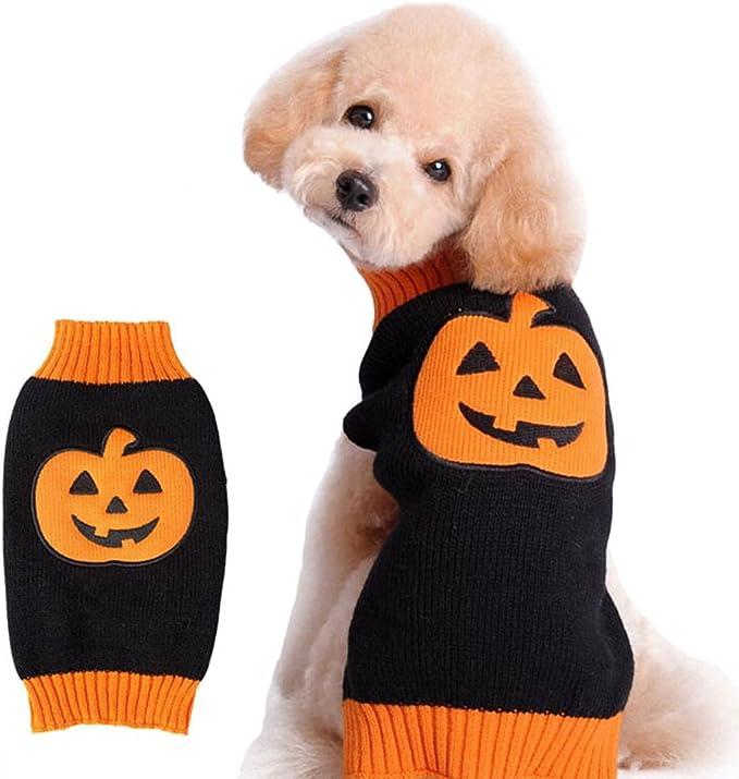 DELIFUR Dog Sweater Pumpkin Pet Costume Festa di Halloween per gatto e cucciolo