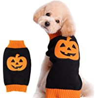 NACOCO Dog Sweater Pumpkin Pet Costume Halloween Holiday Party for Cat and Puppy (XXS)