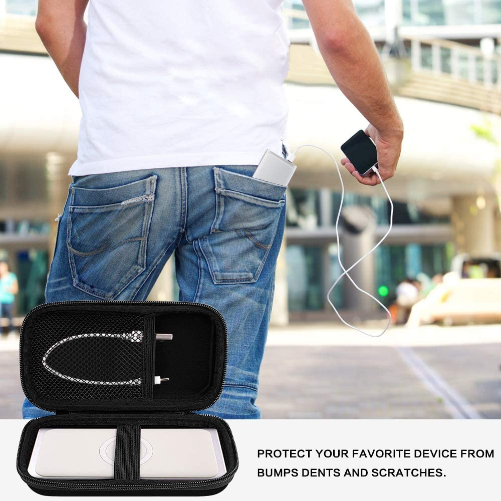 Box Only Storage Carrying Holder Fits for Micro-USB Cable Case Compatible for Samsung 2-in-1 Portable Fast Charge Wireless Charger and Battery Pack 10,000 mAh
