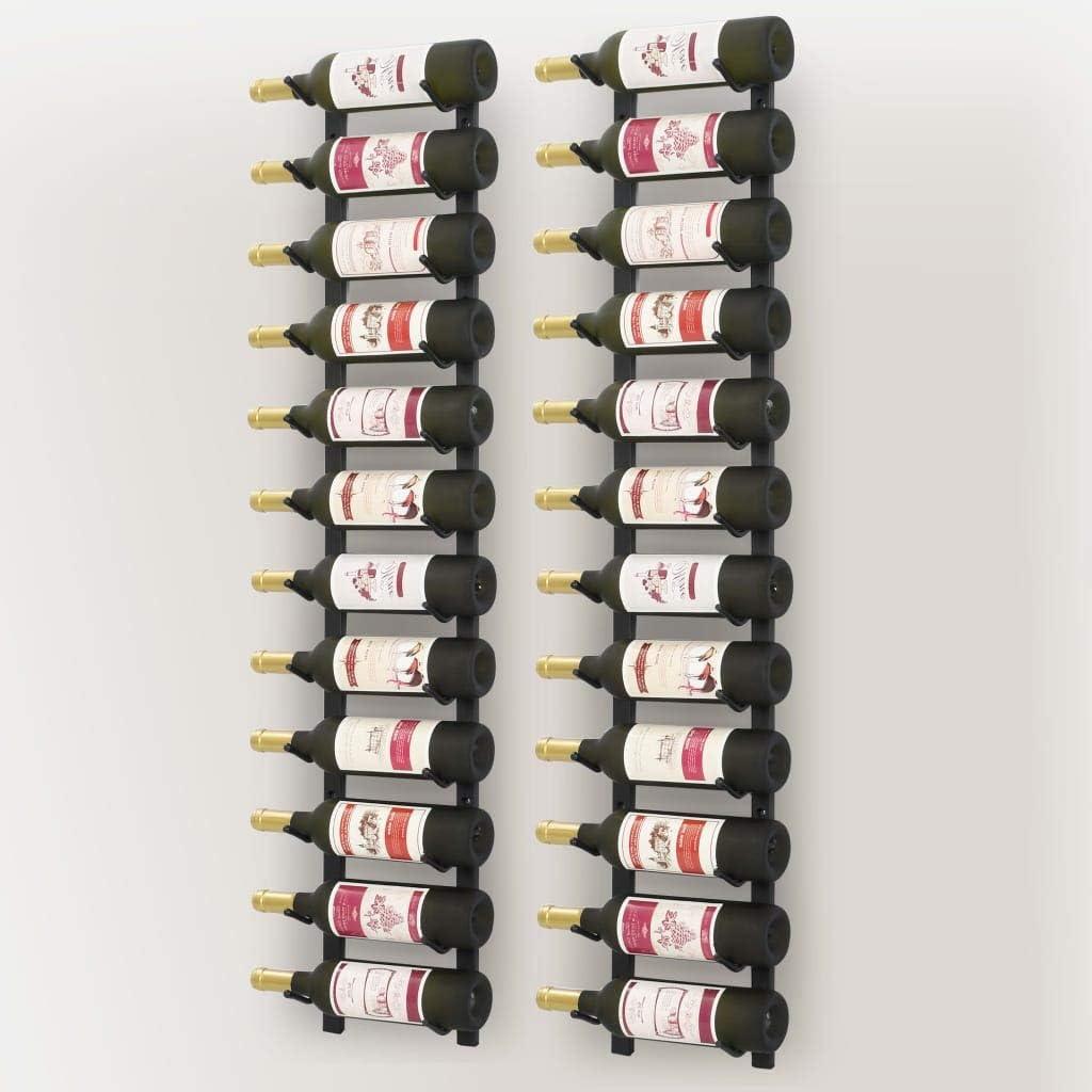 bares 2 unidades,Caben hasta 24 botellas de vino no incluidas mobiliario diario del hogar Tidyard Botellero para vinos de pared para restaurantes