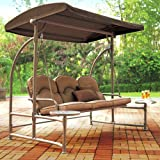 Garden Winds Walmart Home Trends North Hills Replacement Swing Canopy Top Cover - RipLock