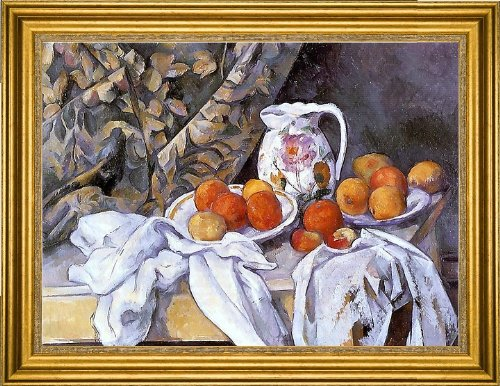 Art Oyster Paul Cezanne Still Life with Curtain and Flowered Pitcher - 18.05