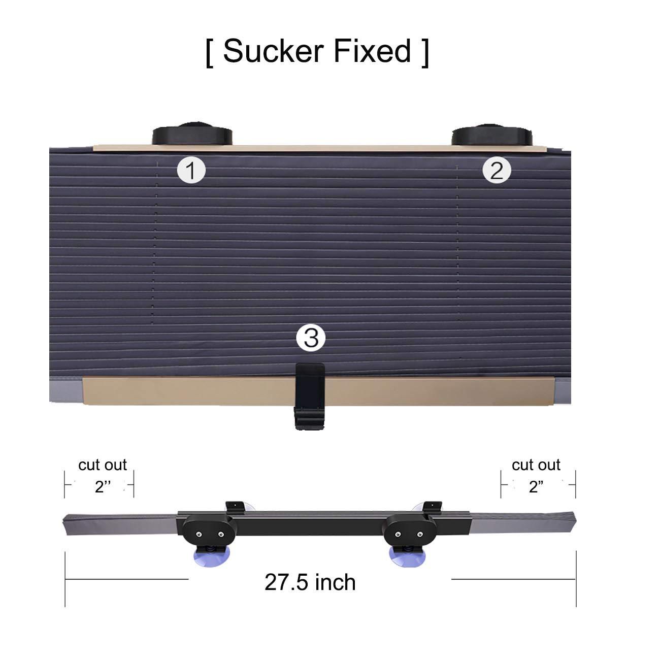 BLACKFLAME Pare-Soleil r/étractable Pare-Brise Automatique pour Voiture SUV Taille Moyenne en /ét/é