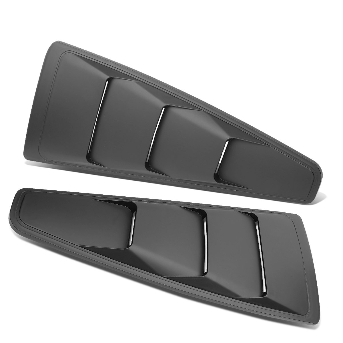 For Ford Mustang Coupe 2Pcs Vintage Style Rear Quarter Side Window Louvers Sun Shade Cover Auto Dynasty
