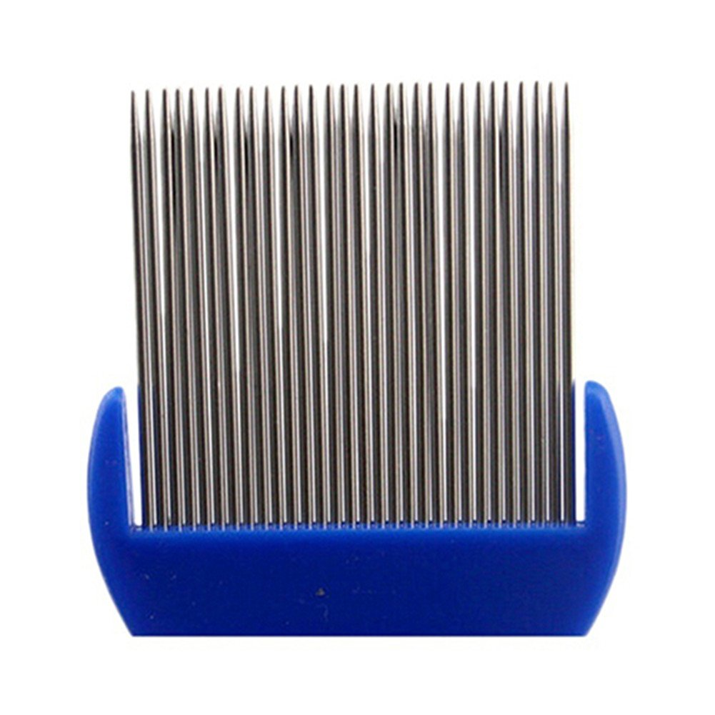 Stainless Steel Pet Cat Puppy Dog Lice Flea Removal Comb Fine Teeth Pet Louse Pet Hair Grooming Deshedding Brush by Baost (Image #4)