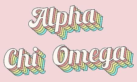 Amazon.com: Alpha Chi Omega - Bandera de la Sororidad ...