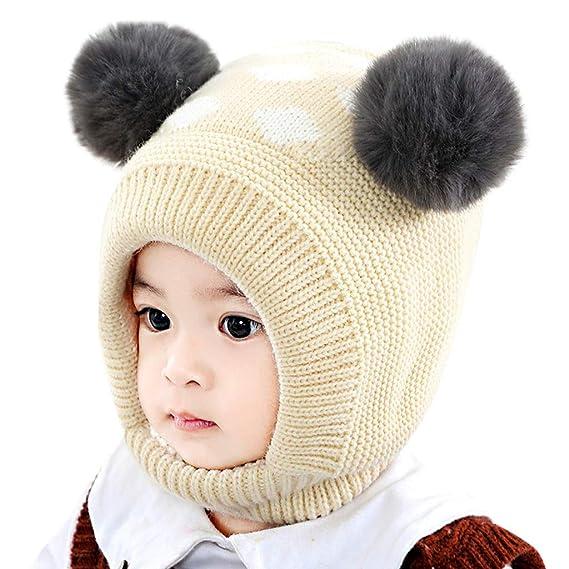 Anmain Bambino Cappellini Tenere Caldo Beanie Cappello Bello Cappelli Hat  Moda Hemming Cappello Cappellino Lavorato Maglia 40f0ea361cef