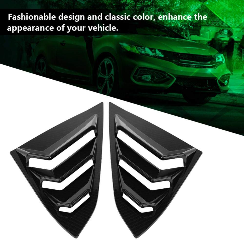 Acouto Scoop Left /& Right Side Window Louver Frame Cover Vent For Honda Civic 2016-2018 Carbon Fiber