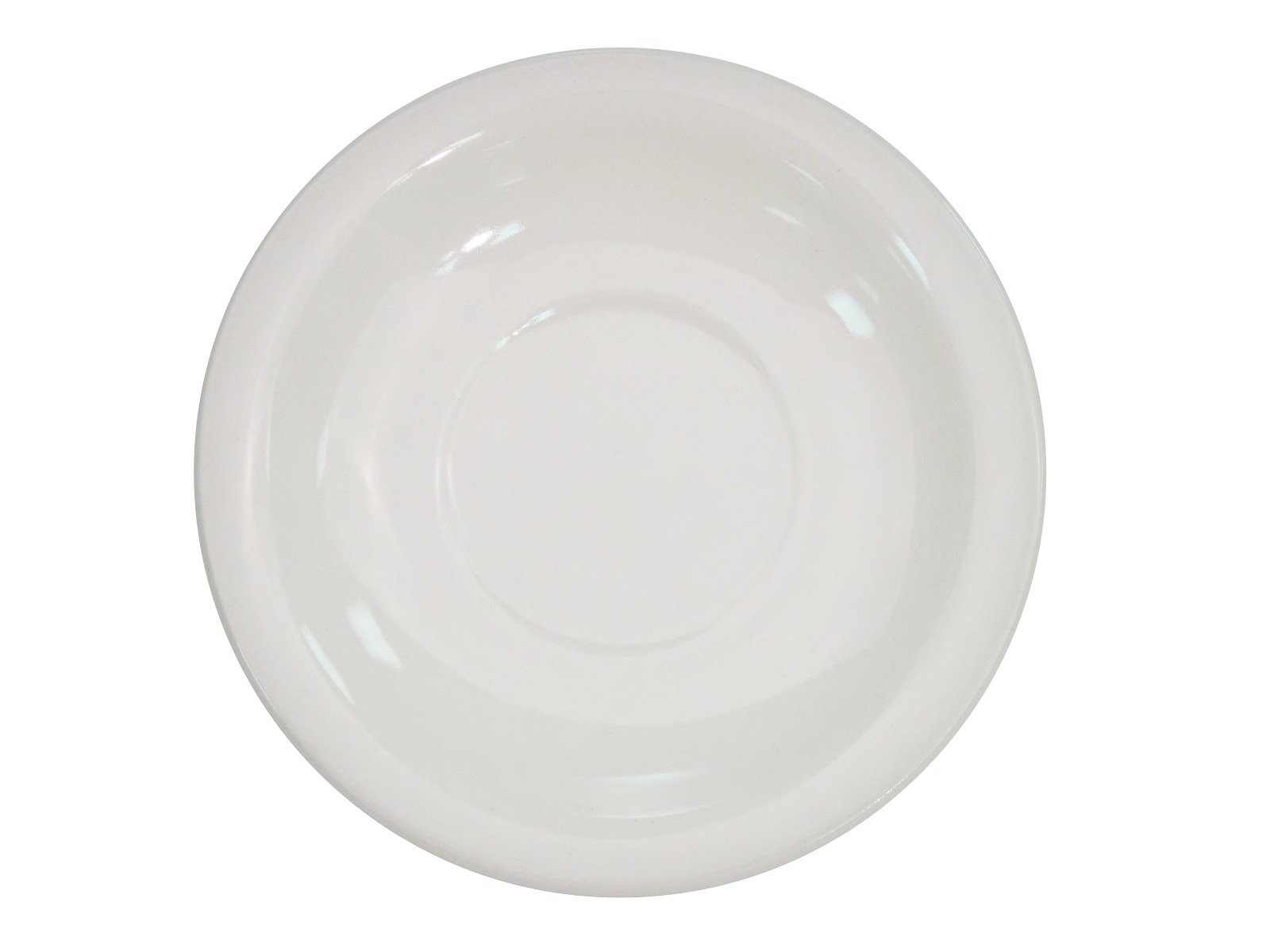 CAC China NRC-2 Narrow Rim 5-1/2-Inch American White Stoneware Saucer, Box of 36