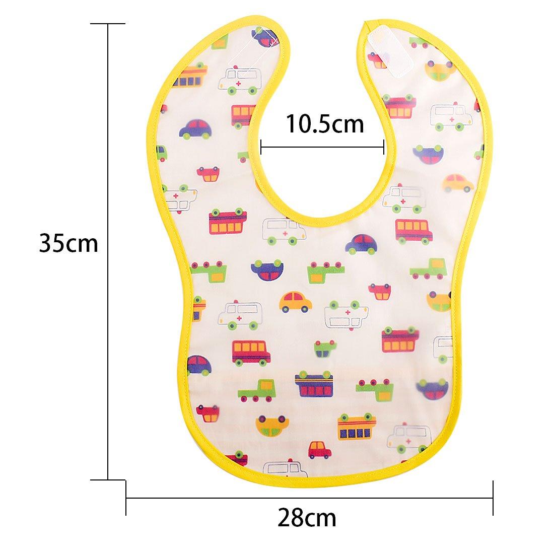 Gudotra 3 piezas Baberos Infantiles Disferente Color Impermeables Material PEVA Fácil de Lavar per Niños Niña: Amazon.es: Bebé