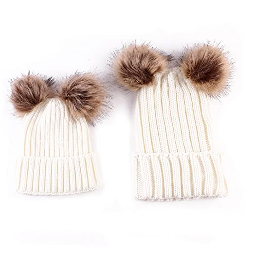 Amazon.com  oenbopo 2PCS Parent-Child Hat Winter Warmer d63f4b73812