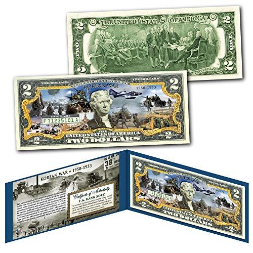 KOREAN WAR 1950-1953 Post WWII Forgotten War Genuine Legal Tender U.S. $2 - Mint 1953