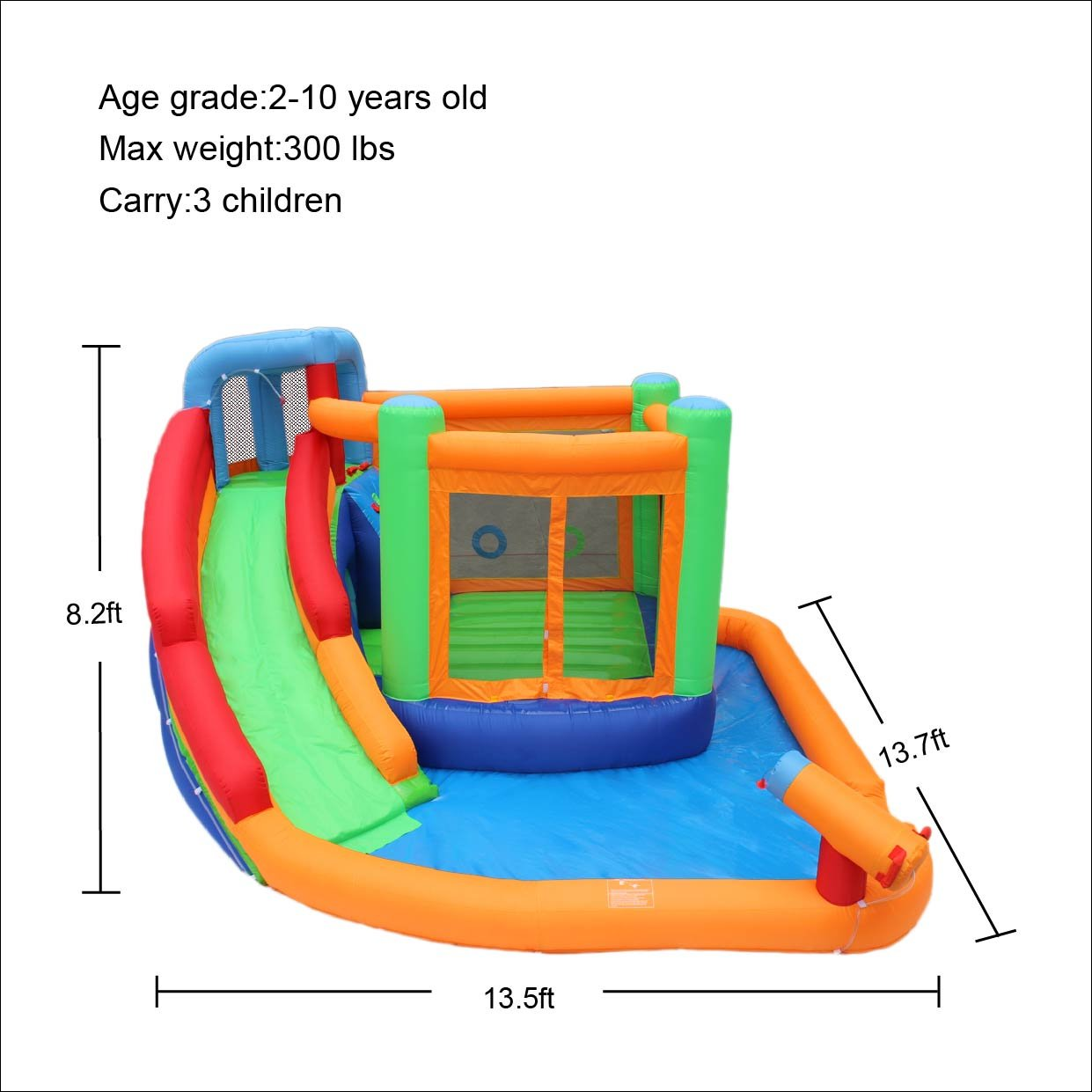 Amazon.com: Bestparty Inflatable Spin Combo Jumper Bounce House and ...