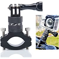 Action Camera Bike Mount, Lammcou Aluminium Bike Handlebar Mount Adapter 360 Degree Rotary Holder Bicycle Rack Mount for GoPro Apeman AKASO Campark Garmin Virb Xiaomi Yi 4K Camera Mount Holder Stand Outdoor Sports Cam Accessories