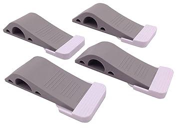 door stop u2013 4 pack u2013 bonus 4 holders u2013 flexible grey rubber door stopper easily