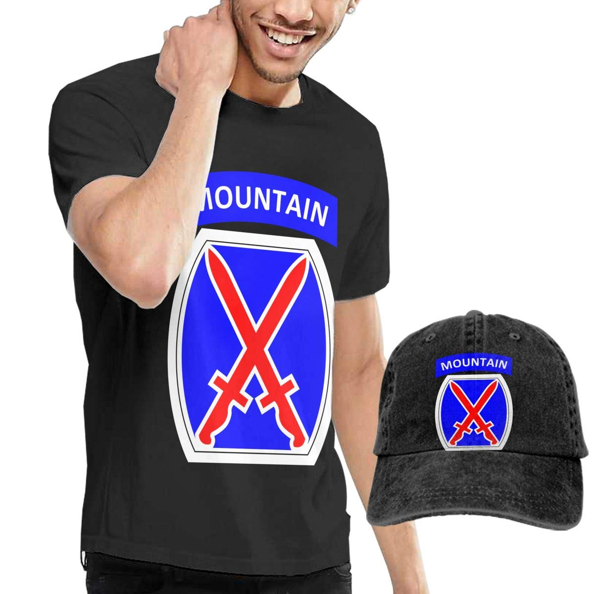 QqZXD Mountain Division Fashion Mens T-Shirt and Hats Youth /& Adult T-Shirts