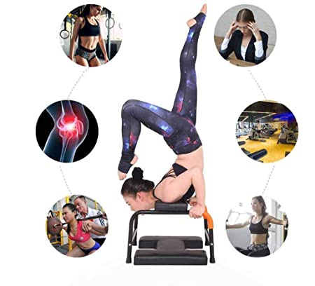 LJQ Home Fitness Silla Invertida, Mesa y Silla de Yoga ...