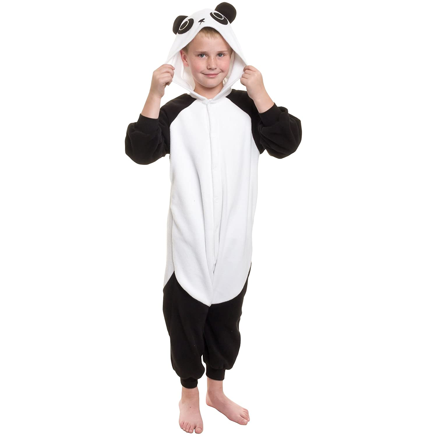 Silver Lilly Kids Panda Animal Costume - Childrens Plush One Piece Pajamas