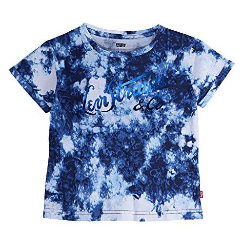 Girls Short Sleeve Ringer - Levi's Toddler Girls' Graphic Logo T-Shirt, Allure, 3T