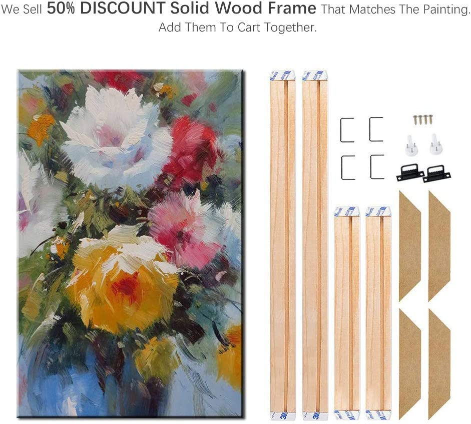 Frame, 12x16 Geeduo DIY Solid Wood Canvas Frame Kit 16x12 Inch for Oil Painting /& Wall Art Easy to Build Canvas Stretching System Include Framed Picture Accessories