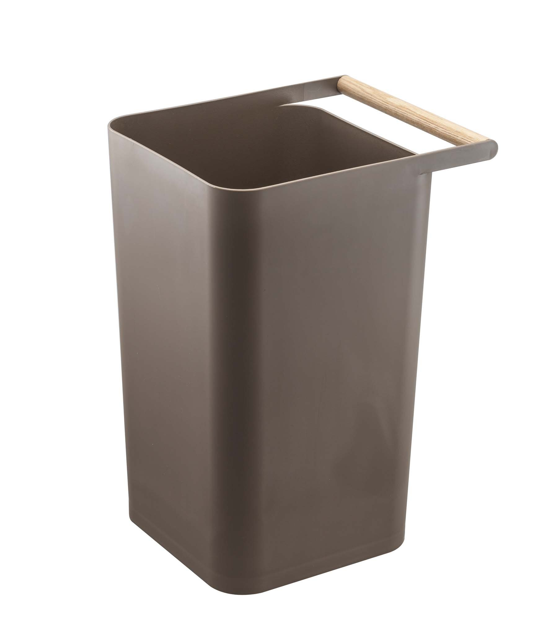 YAMAZAKI home 3135 Como Trash Can, Brown