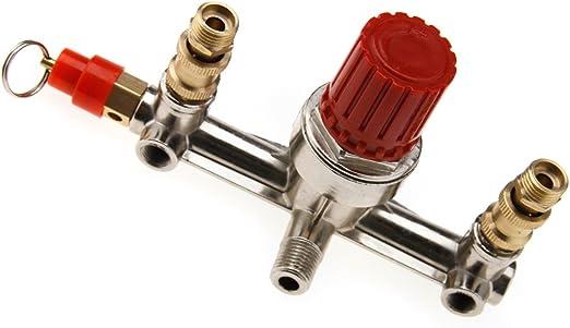 Für Druckluft Doppeln Druckwächter Druckregler Halter Kompressor Einstellbar Baumarkt