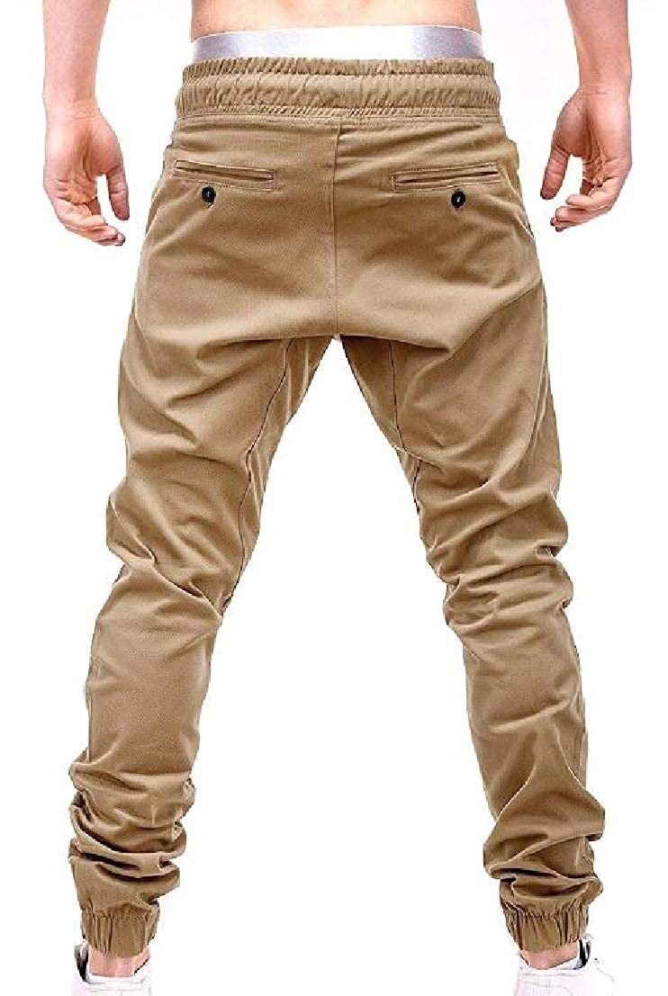 GenericMen Fashion Casual Fall Winter Straps Mid Waist Sport Baggy Pants
