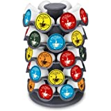 EVERIE Coffee Pod Storage Carousel Holder Organizer Compatible with 40 Keurig K-Cup Pods, Grey