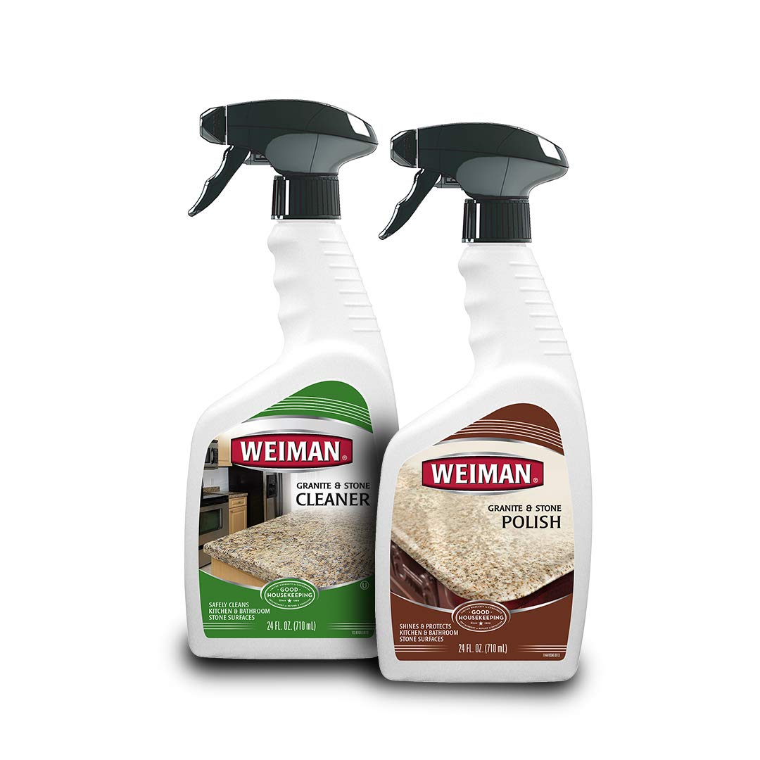 Weiman Granite Cleaner & Polish [Bundle] - For Granite Marble Soapstone Quartz Quartzite Slate Limestone Corian Laminate Tile Countertop by Weiman (Image #8)