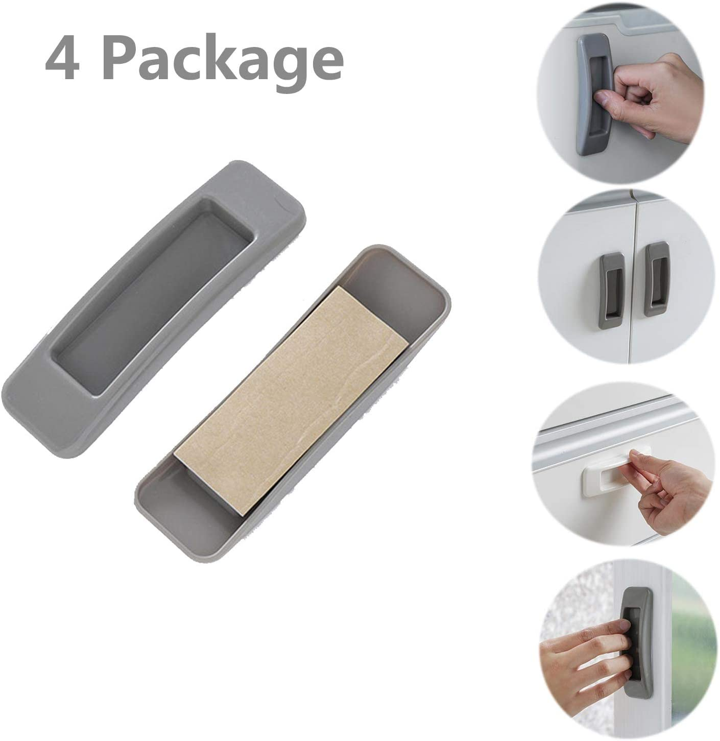 4 Package Self-Stick knob Instant Cabinet Pulls Drawer Handle Window Handle Sticker Window Opening Handle Stick Drawer Opening Handle Stick Knobs Cabinet Door Handle Window Auxiliary Handle