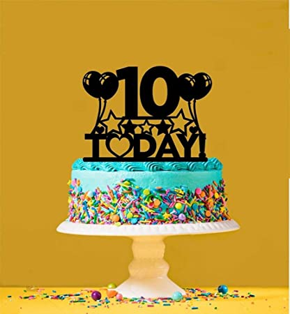 Strange Amazon Com 10Th Birthday Cake Topper 10 Years Old Tenth Toys Funny Birthday Cards Online Elaedamsfinfo