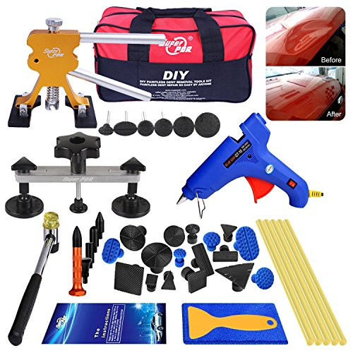 AUTOPDR 40pcs DIY Paintless Dent Removal Tool Kit for Automobile Body Motorcycle Refrigerator Washing Machine ...