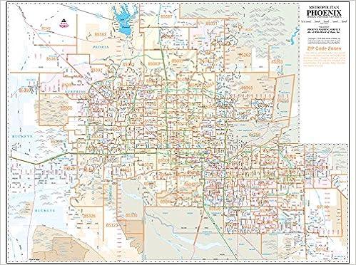 Phoenix Zip Code Map 2016.Metropolitan Phoenix Zip Code Arterial And Collector Streets