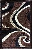 Americana Modern Door Mat Area Rug Brown Design 144 (2 Feet X 3 Feet)