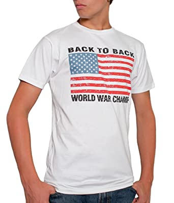Amazon usa back to back world war champs mens t shirt white usa back to back world war champs mens t shirt white small sciox Image collections