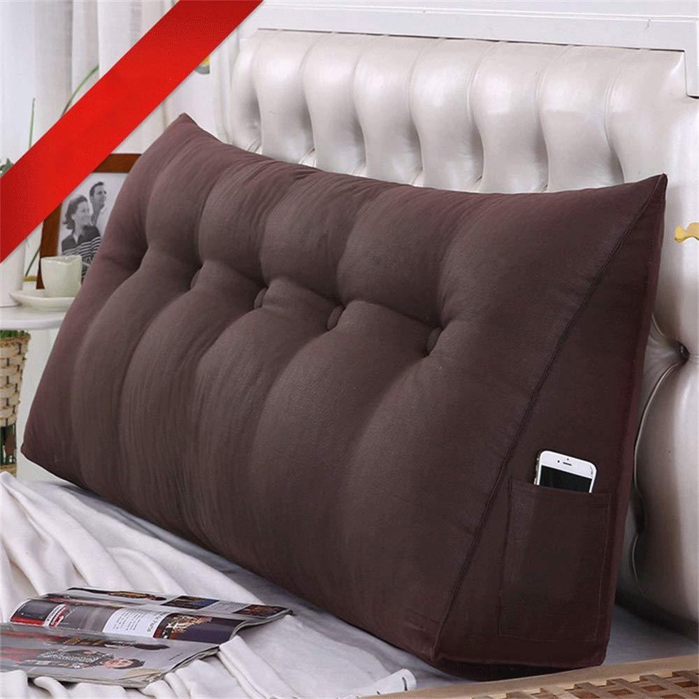 GLP ベッドクッショントライアングルラージバックソフトケースピローウエストピロー洗えるベッドサイドダブルベッドルーム枕漫画、19色&7サイズ (Color : N, Size : 180X50X20cm) B07QZ156YX