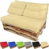 beautissu eco style coussins pour canape euro palette assise banquette 120x80x15 cm. Black Bedroom Furniture Sets. Home Design Ideas
