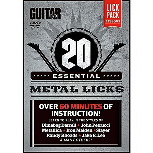 Guitar World -- 20 Essential Metal Licks: Over 60 minutes of instruction! (DVD) by Alfred Publishing by Alfred Publishing