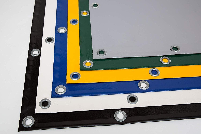 varios colores lona de PVC con ojales de 12 mm sin dobladillo. Lona para camiones Amarillo 720 g//m2