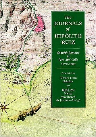 Descargar gratis libros de ipod The Journals of Hipolito Ruiz: Spanish Botanist in Peru and Chile, 1777-88 PDF CHM