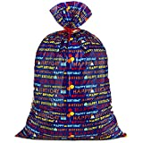 """Hallmark 56"""" Large Plastic Gift Bag (Blue Happy Birthday) for Birthdays, Kids Parties and More: more info"""