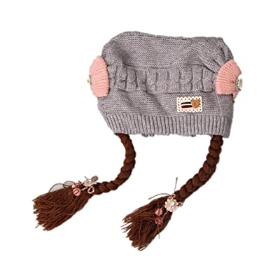 Super07® Baby Girls Knitted Hat Braid Cap for 12-36 Months Baby