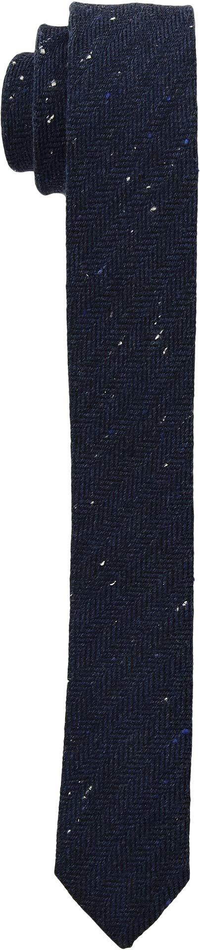Appaman Kids Boy's Tie (Little Kids/Big Kids) Navy Speckle Herringbone LG/XL